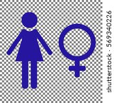 female sign illustration. blue... | Shutterstock .eps vector #569340226