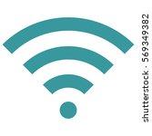 vector illustration of wifi... | Shutterstock .eps vector #569349382