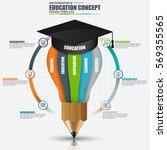 education infographic data... | Shutterstock .eps vector #569355565
