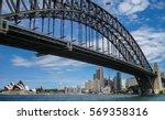 sydney harbour bridge with... | Shutterstock . vector #569358316
