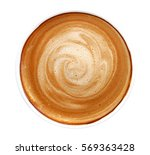 top view of hot coffee... | Shutterstock . vector #569363428