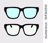 womens modern sunglasses vector   Shutterstock .eps vector #569363542
