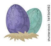 Eggs Of Dinosaur Icon In...