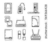 set of 9 hardware icons ...