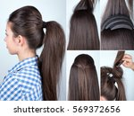 Volume Hairstyle Ponytail With...