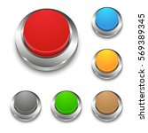 set of colored vector 3d round... | Shutterstock .eps vector #569389345