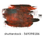 dark grunge brush strokes oil... | Shutterstock . vector #569398186