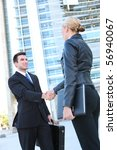 business man and woman team at... | Shutterstock . vector #56940067