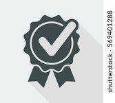 checkmark on ribbon   vector... | Shutterstock .eps vector #569401288