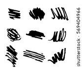 permanent marker. dry paint... | Shutterstock .eps vector #569404966