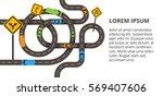 vector illustration with... | Shutterstock .eps vector #569407606