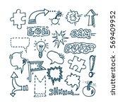 hand sketched communication... | Shutterstock .eps vector #569409952