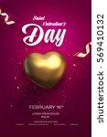 happy valentine's day flyer or... | Shutterstock .eps vector #569410132
