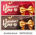 happy valentine's day banners.... | Shutterstock .eps vector #569410162