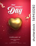 happy valentine's day flyer or... | Shutterstock .eps vector #569410282