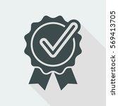 checkmark certificate   vector... | Shutterstock .eps vector #569413705