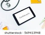 slanted close shot of doctors... | Shutterstock . vector #569413948