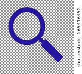zoom sign illustration. blue... | Shutterstock .eps vector #569416492