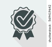 approval check   vector flat... | Shutterstock .eps vector #569419642