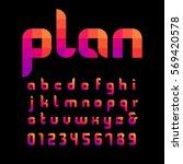mosaic font. vector alphabet... | Shutterstock .eps vector #569420578