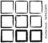 vector set of black frames.... | Shutterstock .eps vector #569421895