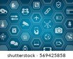 internet of things iot blue...   Shutterstock .eps vector #569425858