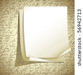 vector note paper | Shutterstock .eps vector #56942713