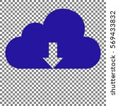 cloud technology sign. blue... | Shutterstock .eps vector #569433832