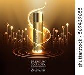 premium collagen serum and... | Shutterstock .eps vector #569439655