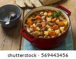 gulyasleves hungarian beef...   Shutterstock . vector #569443456