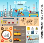 oil industry infographic... | Shutterstock .eps vector #569445046