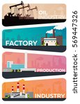 industrial building factory set.... | Shutterstock .eps vector #569447326