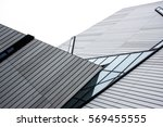 modern roof with angular... | Shutterstock . vector #569455555