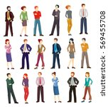 collection illustrations of... | Shutterstock . vector #569455708