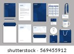 corporate identity design mock... | Shutterstock .eps vector #569455912