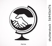 flat vector image of a globe... | Shutterstock .eps vector #569456476