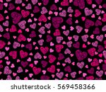 seamless pattern with hearts... | Shutterstock .eps vector #569458366