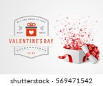 happy valentines day greeting... | Shutterstock .eps vector #569471542