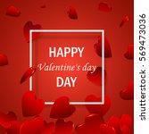 happy valentine's day elegant ... | Shutterstock . vector #569473036