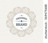 vintage frame for luxury logos  ... | Shutterstock .eps vector #569475688