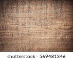 dark brown scratched wooden... | Shutterstock . vector #569481346