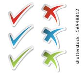 vector check mark stickers | Shutterstock .eps vector #56948812