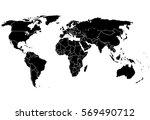 blank black like a world map on ... | Shutterstock .eps vector #569490712
