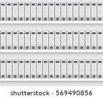 white lever arch folders on... | Shutterstock .eps vector #569490856