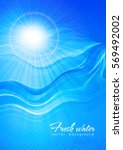sun in the waves. fresh water.... | Shutterstock .eps vector #569492002