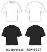 t shirt templates | Shutterstock .eps vector #56949337