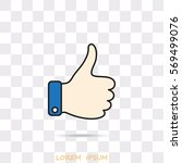 line icon  thumb up | Shutterstock .eps vector #569499076