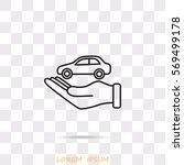 line icon  hand and car | Shutterstock .eps vector #569499178