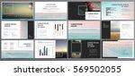 original black presentation... | Shutterstock .eps vector #569502055