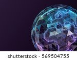 global network internet... | Shutterstock . vector #569504755